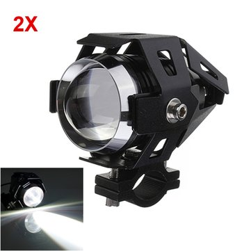 2pcs U5 Motorcycle LED Headlight 3000LM Waterproof Hi/Lo High Power Spot Light