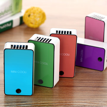 Mini cooli Mini Air Conditioner Cooling Fan USB Rechargeable Holder Air Conditioner Cooler Fan 1083866