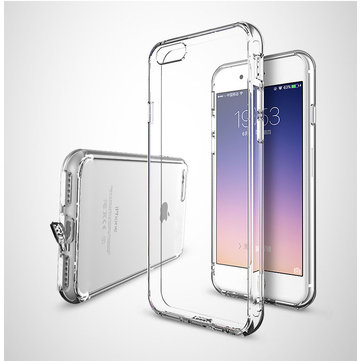 Shock-proof Dust-proof Soft Transparent Protective Case Cover With Dust Plug For Apple iPhone 7