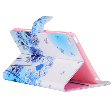 ENKAY Dandelion PU With Card Slot Support & Intelligent Sleep Protection Case For iPad Mini 4