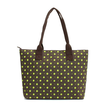 Women Canvas Flower Dot Tote Handbags Casual Shoulder Bags Large Capcity Shopping Bags
