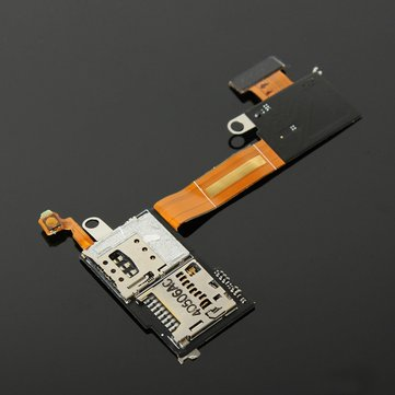 Micro SIM Card SD Reader Flex Cable For Sony Xperia M2 D2303 D2306 D2305