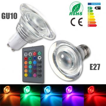 e27 gu10 4w color changing rgb led magic bulb lamp spot light remote 85 265v sale. Black Bedroom Furniture Sets. Home Design Ideas