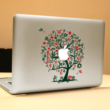 PAG Green Tree Decorative Laptop Decal Removable Bubble Free Self-adhesive Skin Sticker