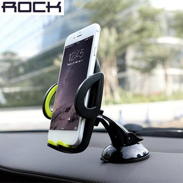 ROCK Deluxe 360 Degree Rotation Windscreen Mount Holder Stand for Cellphone Under 6-inch