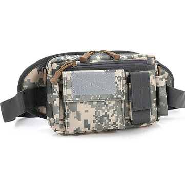 Men's Nylon Outdoor Sports Shoulder Bag Travel Hiking Waist Bag