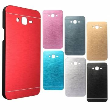 Ultra Slim Brushed Metal Back Hard Case Cover For Samsung Galaxy J7