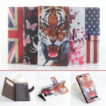 Slim Fashion Pattern Flip PU Leather Cover Wallet Cards Stand Case For Xiaomi Redmi 3