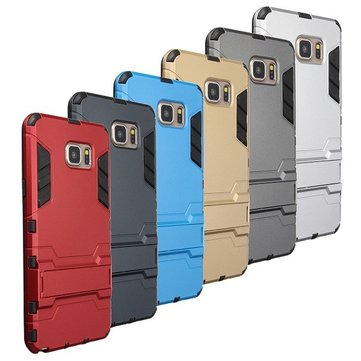 TPU + PC 2-in-1 Hybrid Rugged Armor Hard Back Cover Case for Samsung Galaxy Note 5
