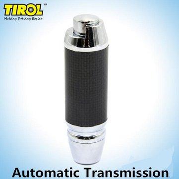 Tirol Car Black Zinc Alloy Leather Gear Shift Knob Universal For Automatic Car