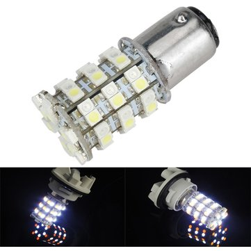 1157 3528 1210 60SMD Car LED White Tail Brake Light Bulb