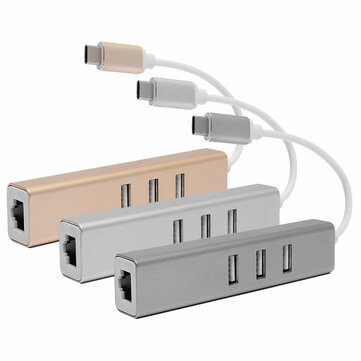 USB3.1 Type C to USB2.0 3 Ports High Speed Charging Hub Adapter For Macbook