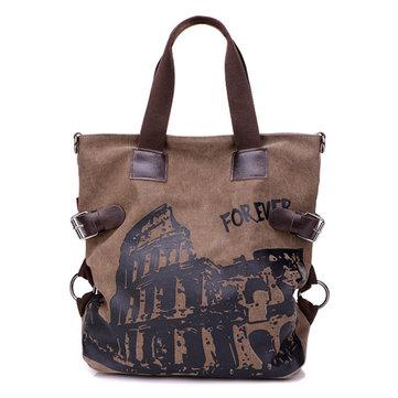 女性キャンバス落書きトートバッグガールズカジュアルショルダーバッグ大容量のショッピングバッグ