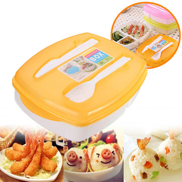 colorful lunch box 3 compartment bento box food seal container at banggood sold out. Black Bedroom Furniture Sets. Home Design Ideas