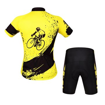 Aogda Men Unisex Breathable Comfortable Padded Short Sleeve Bike Cycling Clothing Set