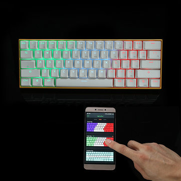 Special Offer (APP Control) Anne PRO Blue/Red/Brown Switch RGB Wireless Bluetooth Mechanical Gaming Keyboard Before Special Offer Ends
