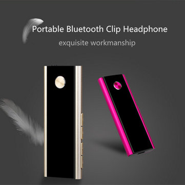 Clip Bluetooth 4.0 Headset Wireless Stereo Earphone Headphone With FM Smart Voice Recording