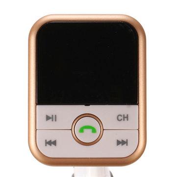 ワイヤレスBluetoothカーキットMP3プレーヤーFMトランスミッターモジュレーターUSB SD LCDリモート