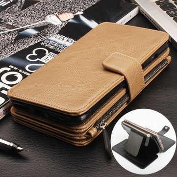 Multi Function Hand Strap PU Leather Flip Card Case Holster Wallet Holder For iPhone 6 Plus 6S Plus