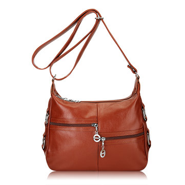 Women Leather Multi Pockets Bags Ladies Elegant Shoulder Bags Crossbody Bags