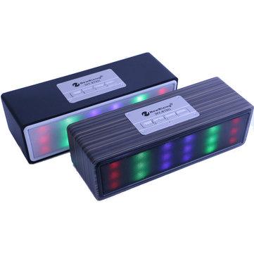 新しいRixing LED Lights Show Pulse Bluetoothスピーカー Portable 色ful LED Subwoofer Multifunction Sound Box