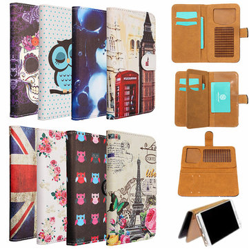 Universal Flip PU Leather Wallet Card Cover Case Stand For Samsung Note 4