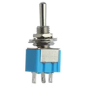 3 Pins SPDT Motors Toggle Switch AC 125V 6A Waterproof Blue
