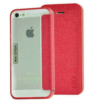 Colorful Folio Flip PU Leather Case Cover For iPhone 5S