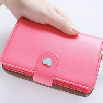 Fashion Wallet Cellphone Bag Smiling Face Mutifunction Wallet