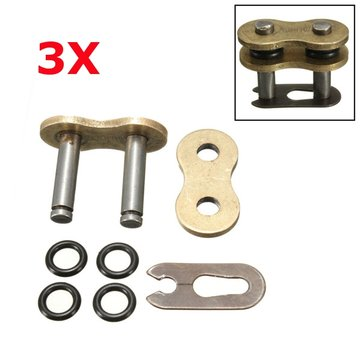 3pcs 530H Chain Connecting Master Links With O-Ring For Motorcycle Dirt Bike