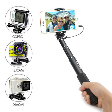 blitzwolf bw ws1 mini extendable wired selfie stick monopod for iphone 6 samsung galaxy. Black Bedroom Furniture Sets. Home Design Ideas