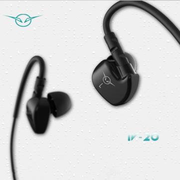 IVERY IV-20 In-ear Sport Ear Hook Heavy Bass Wired Control Earphone Headphone With Mic