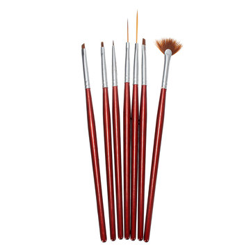 7pcs Acrylic Nail Art Tool Pen Painting Brush Set Gel Decorations - US