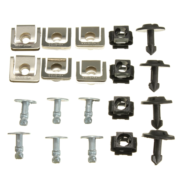 Set Undertray Guard Engine Cover Fixing Fitting Clips S