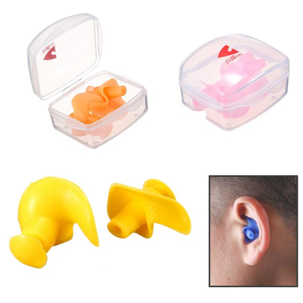 Soft Silicone Swimming Earplugs1 Pair Waterproof Protector