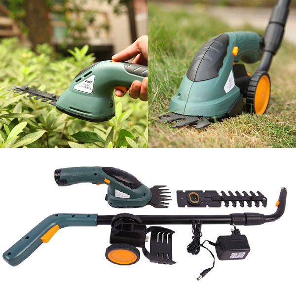 East 3.6V 2 In 1 Electric Cordless Grass Shear Hedge Tr