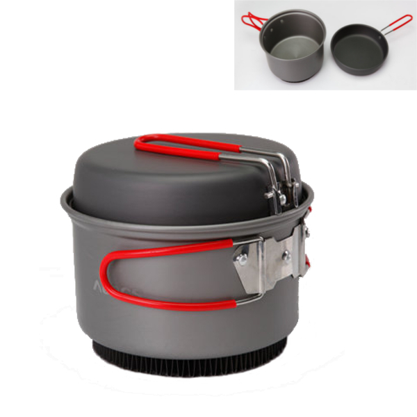 ALOCS 1-2 Person 1.4L Pot Hard Alumina Cooking Set Camp