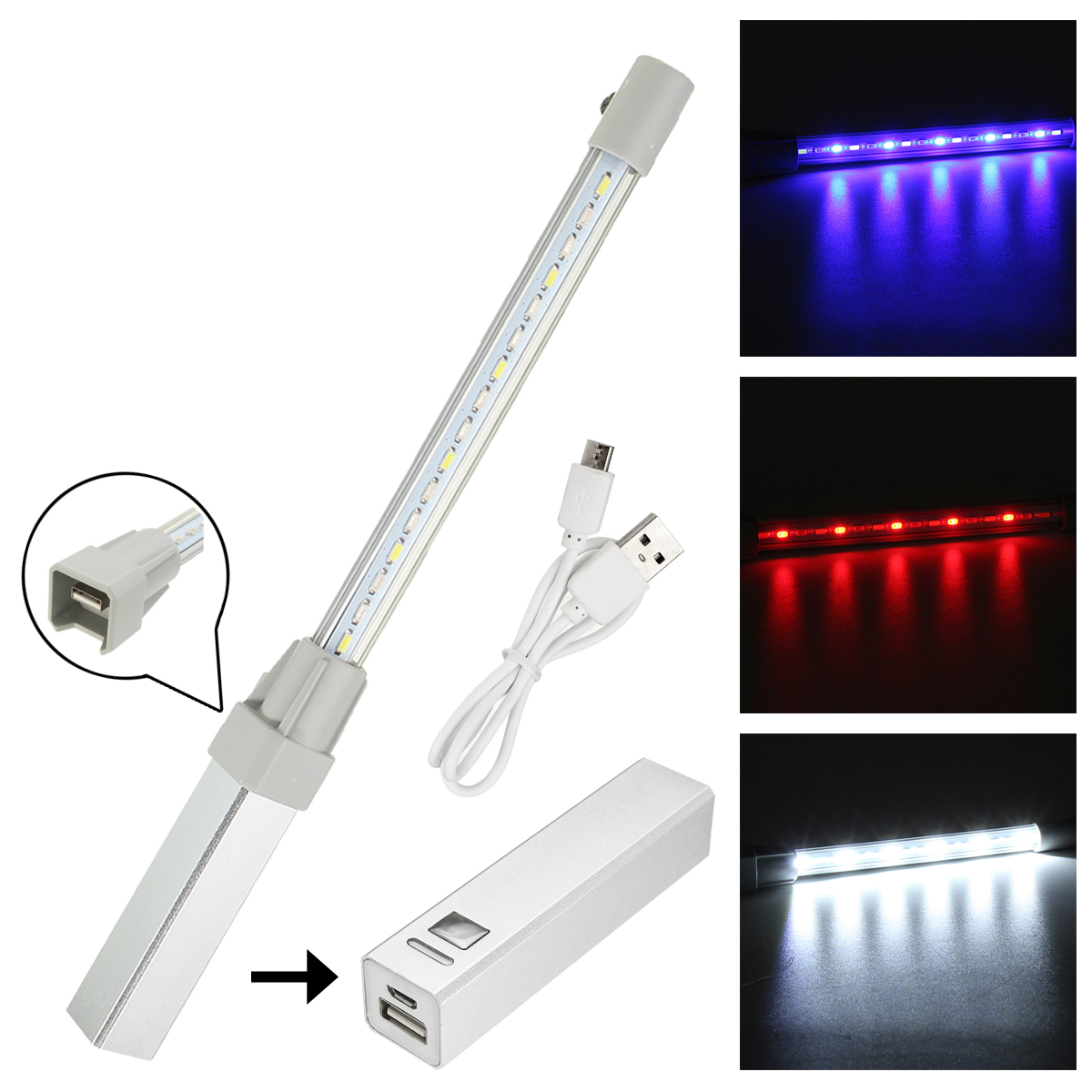 Outdoor Camping 5V/1A Led Light Bar Tent Emergency Warn
