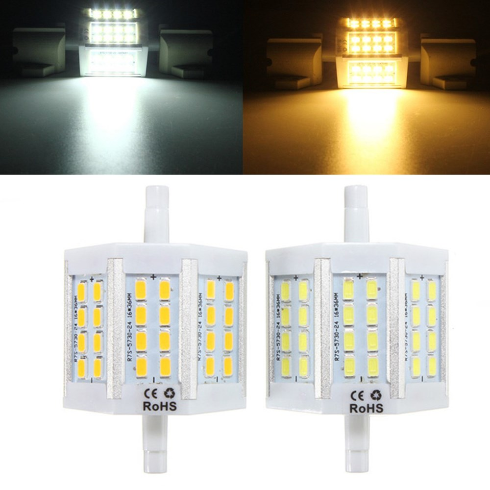 Bright R7S 10W Dimmable 78mm 24 SMD 5730 LED Corn Bulb