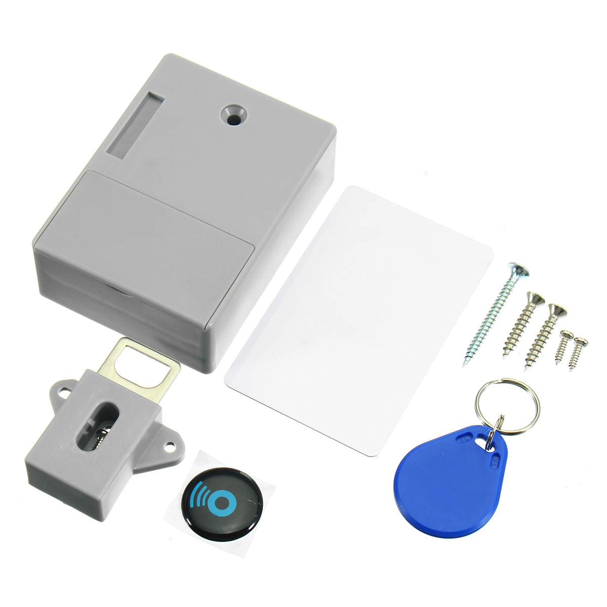 RFID Digital Hidden Cabinet Drawer Lock Without Hole For Home
