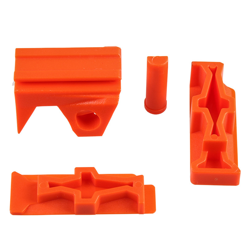 WORKER Toy Plastic Toys Rail Adaptor Front Top and Sides for Nerf STRYFE Modify Toy Accessory Orange