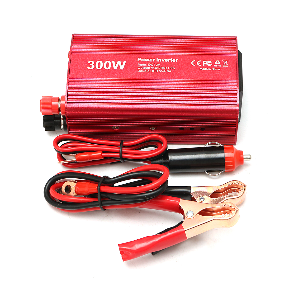 300W 12V DC To 220V AC Car Inverter Power Supply Conver