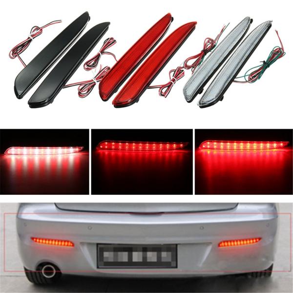 2pcs LED Rear Bumper Turn Signal Light Brake Tail Stop