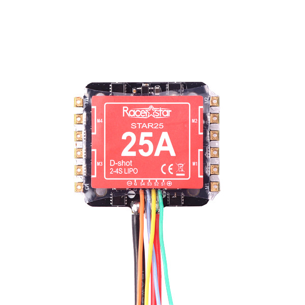 20x20mm Racerstar Star25 25A BLHELI_S 2-4S 4in1 Brushless ESC Dshot600 Ready