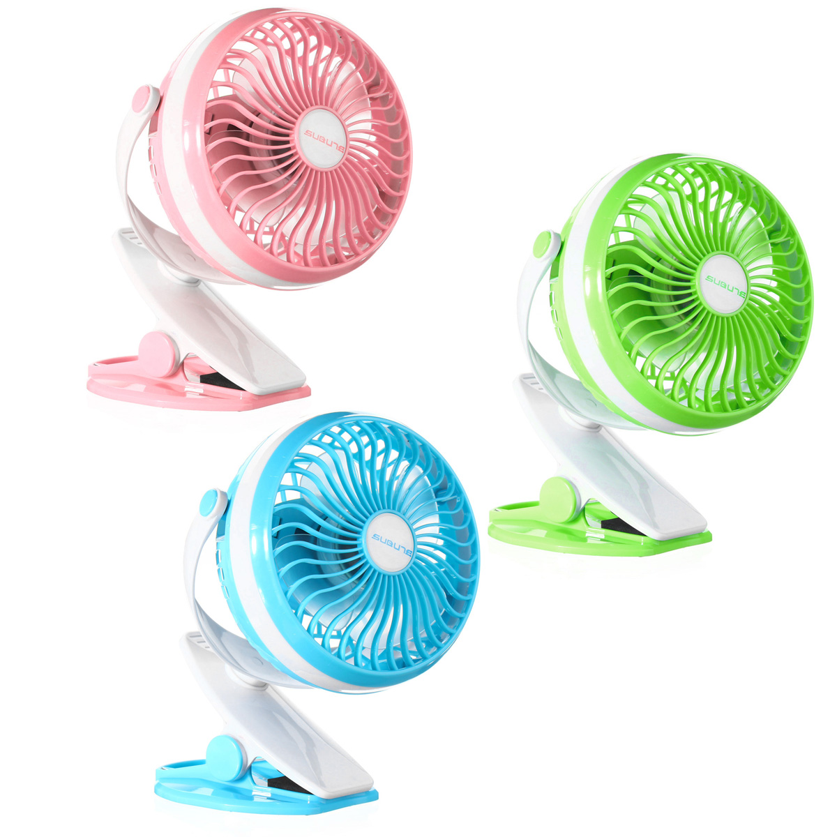 360� Clip On Portable Mini USB Baby Carriage Camping Outdoor Desktop Office Fan Cooler