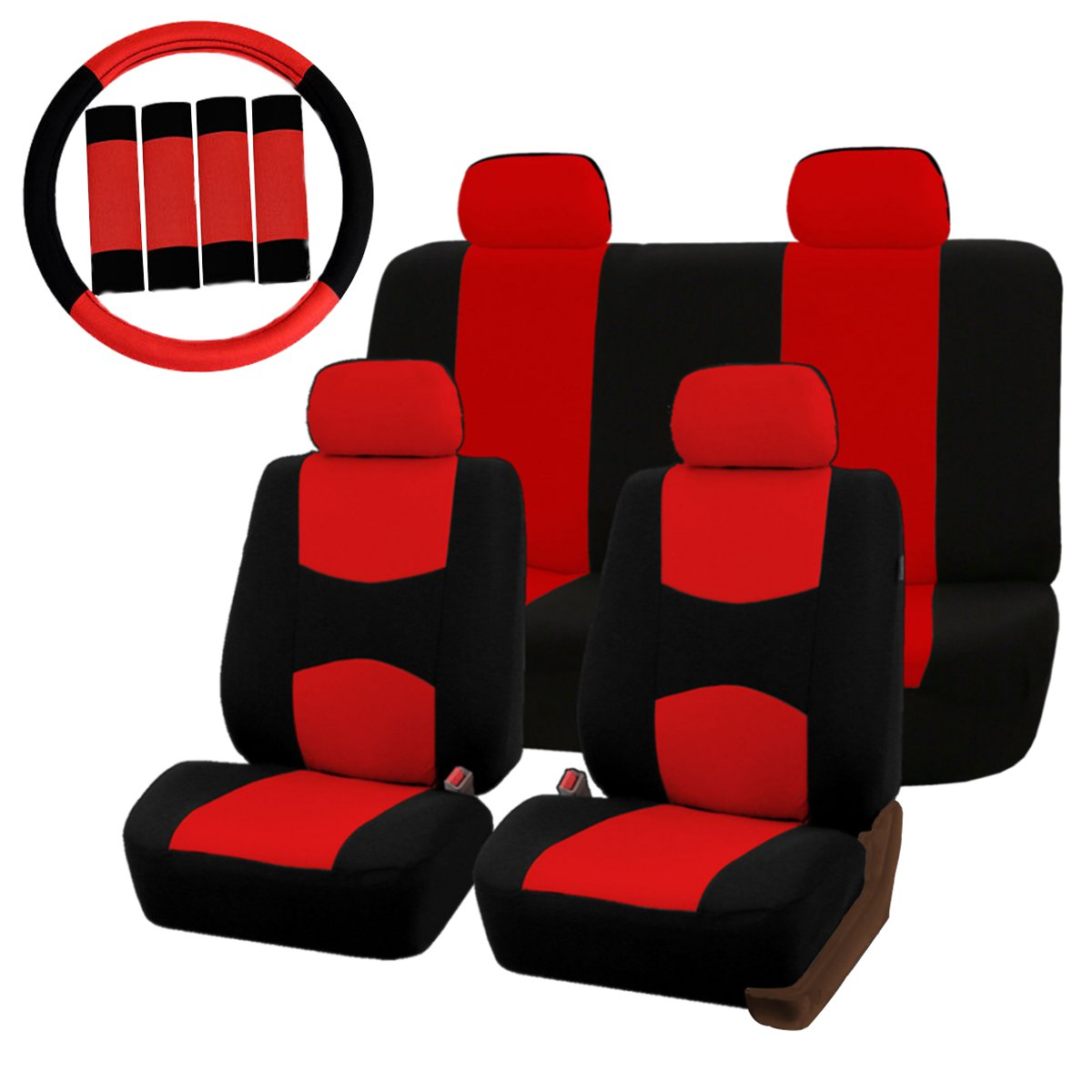 Universal Car Seat Covers Protector Full Set Steel Ring