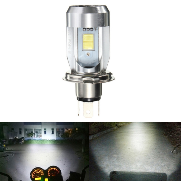 DC6-36V H4 9003 20W 2 LED CE Motorcycle Bulb Headlights