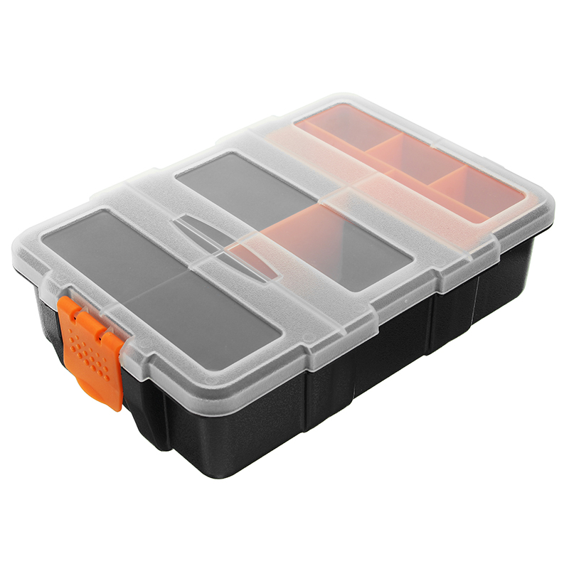 11 Grids Plastic Assortment Storage Box Double Layer Cr