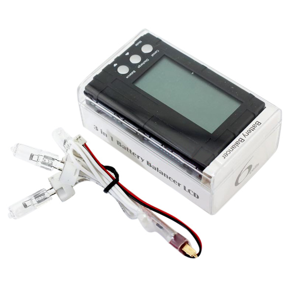 AOKoda Black 3 In 1 150W Lipo Battery Balancer LCD Volt