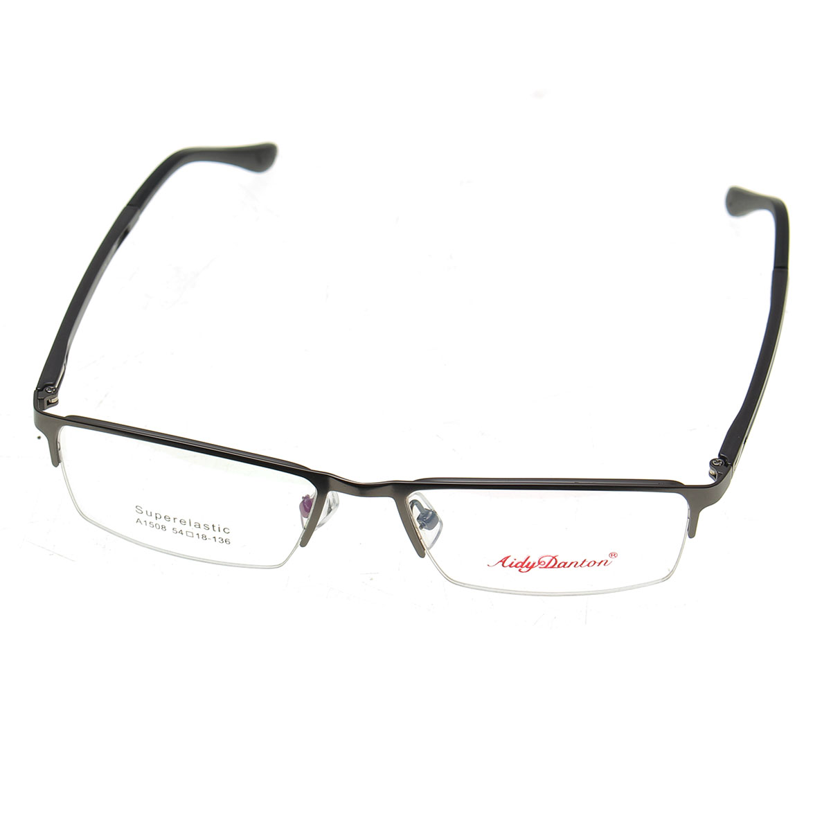 metal half rimless reading glasses myopic eyewear frame